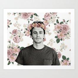 James Franco Rose Flower Crown Tumblr-Esque Art Print