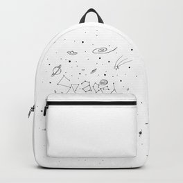 Spaced Out (White) Backpack