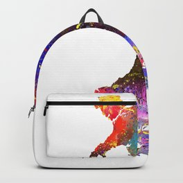 Swansea heat on the map  Quote Art Design Inspir Backpack