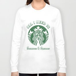 all i I need is schnauzers and starbucks germany t-shirts Long Sleeve T-shirt