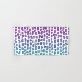 Brushstrokes Pattern - Pink to Blue Gradient Hand & Bath Towel