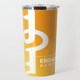 Endangered Alphabets logo Travel Mug