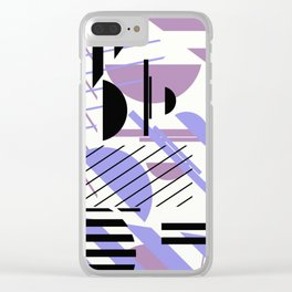 Shape Central - Geometric Abstract Pattern Clear iPhone Case