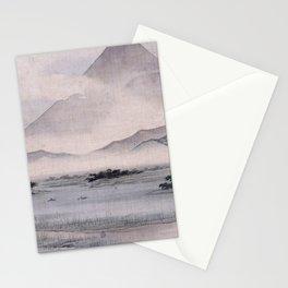 Utagawa Hiroshige - Fuji Marsh, Suruga province Stationery Cards