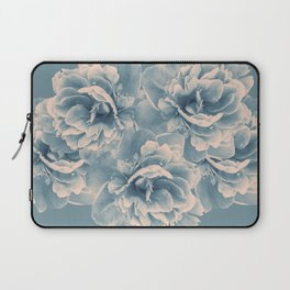 Blush Blue Peony Flower Bouquet #1 #floral #decor #art #society6 Laptop Sleeve