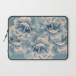 Blush Blue Peony Flower Bouquet #1 #floral #decor #art #society6 Laptop Sleeve