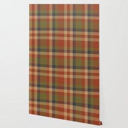 Brown Taupe Plaid Tartan Checkered Pattern Wallpaper