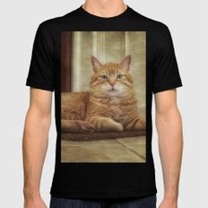 Cattitude Is Everything. Black MEDIUM Mens Fitted Tee