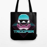 trooper Tote Bags featuring TROOPER by MEKAZOO