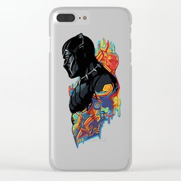 Black Panther Clear iPhone Case