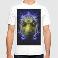 Electric portrait Mens Fitted Tee MEDIUM White