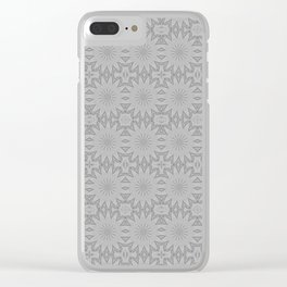 Shades of Grey Pattern A171C Clear iPhone Case