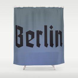 Berlin Fracture Font Shower Curtain