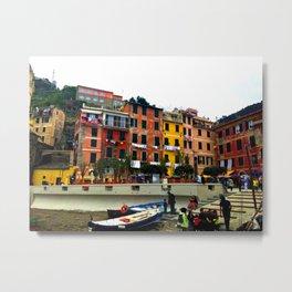 Cinque Terre, Italy Harbor in Riomaggiore/Vernazza Metal Print