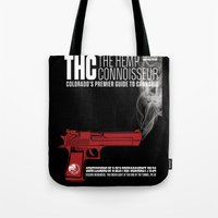 propaganda Tote Bags featuring THC Propaganda by The Hemp Connoisseur  ™
