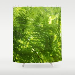 Fern in the forest, spring fresh green Shower Curtain