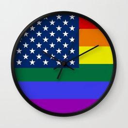American Pride Flag Wall Clock