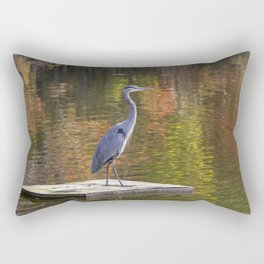 Blue Heron In Autumn Rectangular Pillow