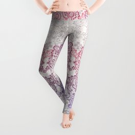 lace cascade light Leggings