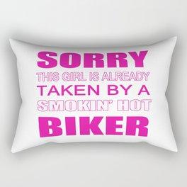 Taken By A Biker Rectangular Pillow
