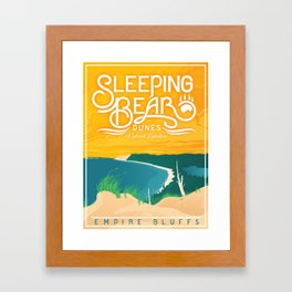 Sleeping Bear Dunes Framed Art Print