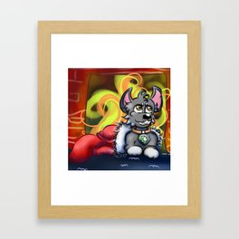 Rocky In a Stocking Framed Art Print