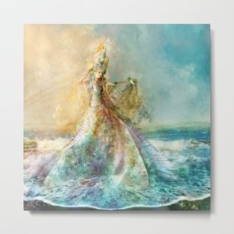 Shell Maiden Metal Print