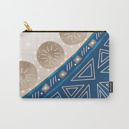 Abstract pattern brown blue . Carry-All Pouch