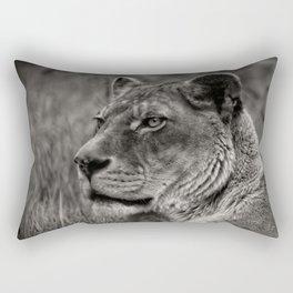 Lioness Portrait Rectangular Pillow