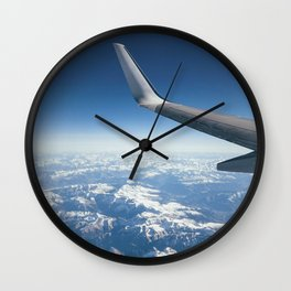 the Alps from the sky Wall Clock