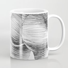 line drawing of a nude girl Coffee Mug