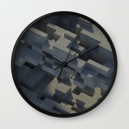 Abstract Concrete IV Wall Clock