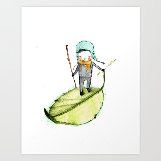 Pedro woodland people Art Print