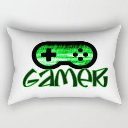 Gamer Green Rectangular Pillow