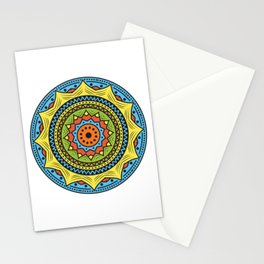 Colorful mandala ornamentation design Stationery Cards