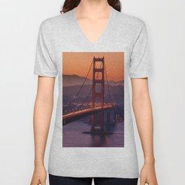 Golden_Gate_Bridge_20170801_by_JAMFoto Unisex V-Neck