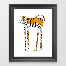 Long legs Tiger Framed Art Print