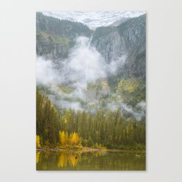 Morning Clouds - Glacier National Park Canvas Print