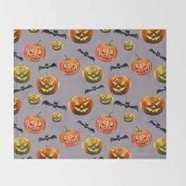 Dark Night of Halloween Throw Blanket