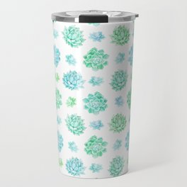 Trendy modern turquoise teal cute cactus pattern Travel Mug