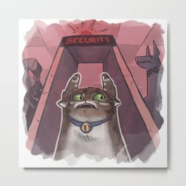 Busted Cat Metal Print