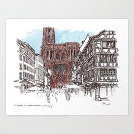 Rue Merciere, Strasbourg Art Print