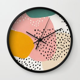 Abstract, Mid century modern kids wall art, Nursery room Wall Clock