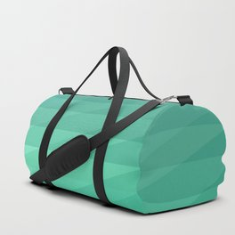 Fig. 043 Mint Green Geometric Diagonal Stripes Duffle Bag