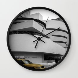 New York, Solomon R Guggenheim Museum, Frank Lloyd Wright, NYC Taxi Wall Clock