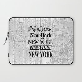 New York City black and white New York poster I love heart NYC Design black-white home wall decor Laptop Sleeve