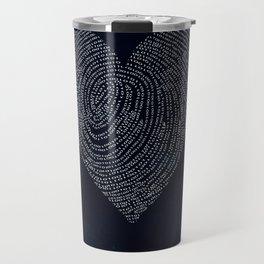 Coded heartprint - dark print Travel Mug