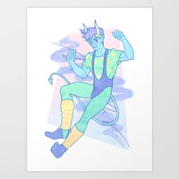 heymonster Art Prints featuring Jazzercise by heymonster