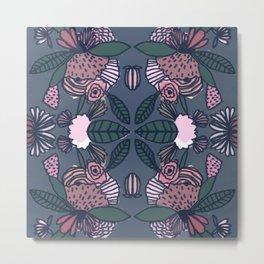 Geometric Delicious Floral Garden Pattern 1 Metal Print