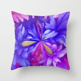 311 - Abstract Flower design Throw Pillow